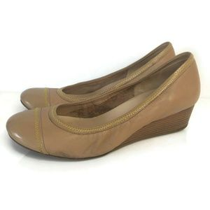 Cole Haan Milly Wedge D39542 Patent Leather Beige